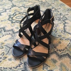 Franco Sarto gladiator block heels